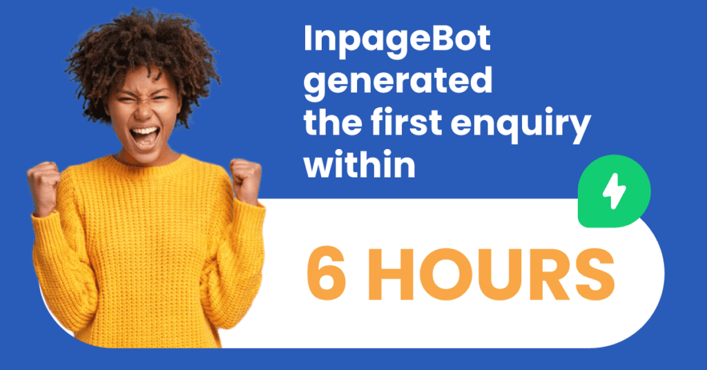 Fast results with Leadoo InpageBot