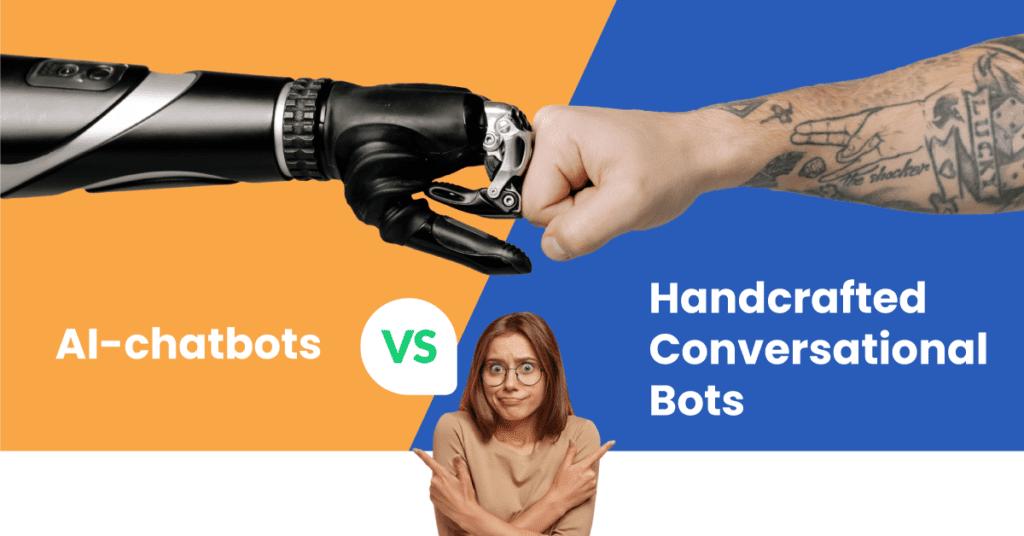 AI-chatbots vs. Handcrafted Conversational Bots