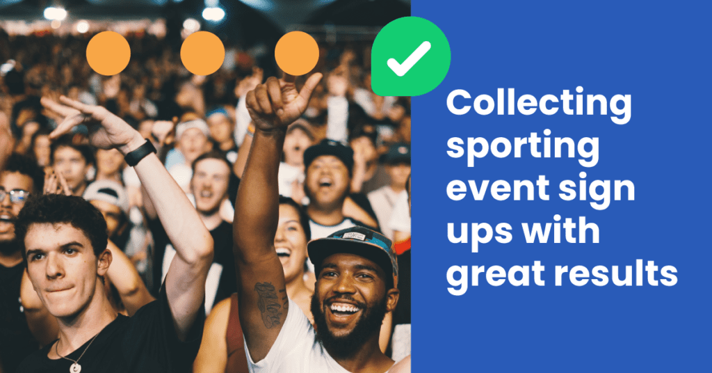 collecting sporting event sign ups with Leadoo