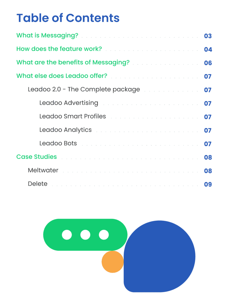 Messaging Content Leadoo e1592219711764 Integrate WhatsApp & Messenger on your website Engage with prospects on and off your website with Leadoo Messaging