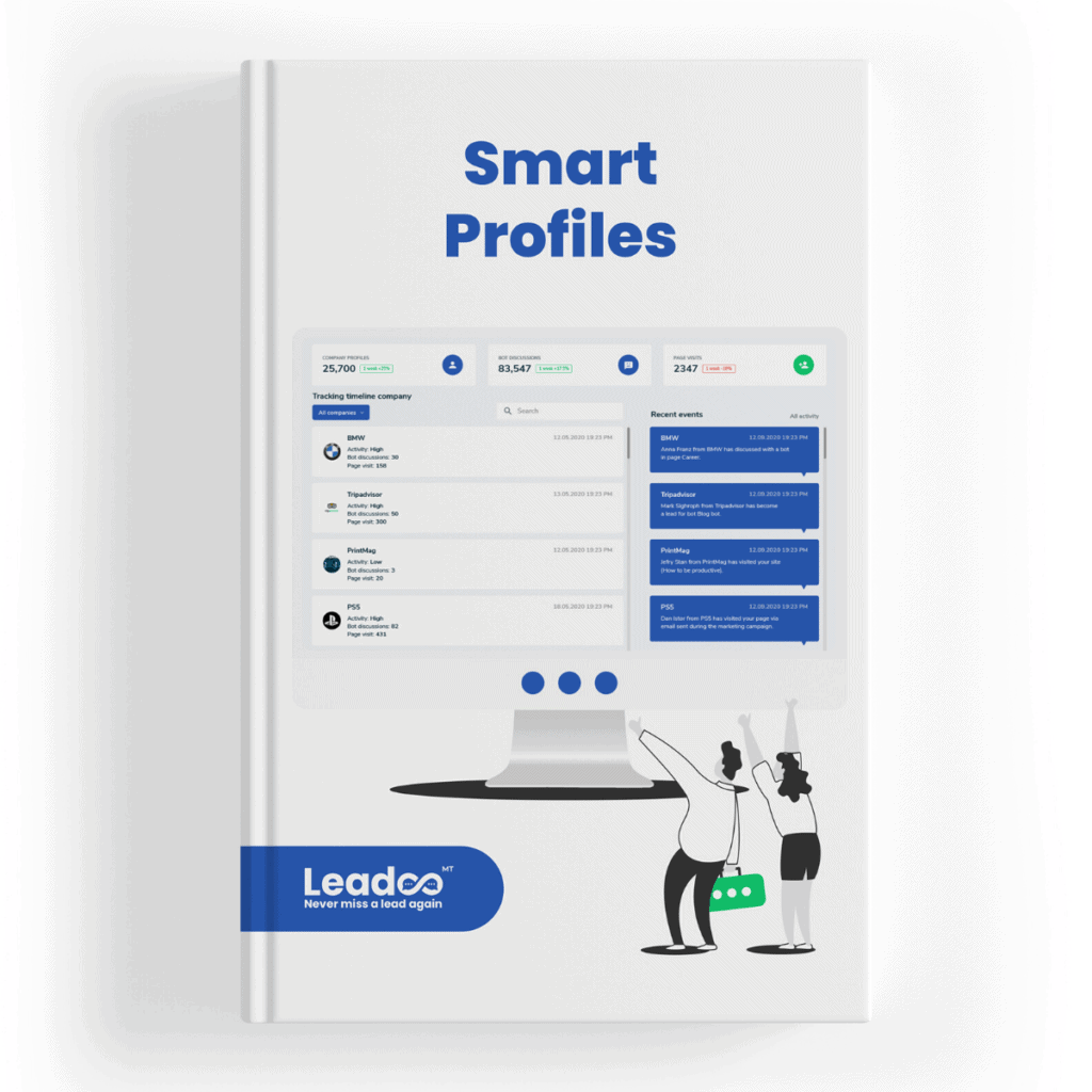 Untitled design 2020 06 11T184243.251 Identify the hottest leads and close more deals Identify the hottest leads on your website and close more deals with Leadoo Smart Profiles