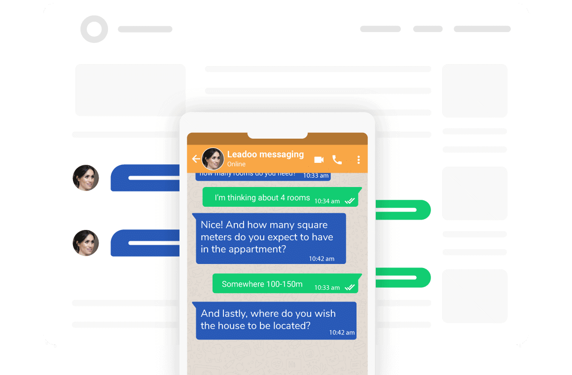 Switch easily from a website to Messaging apps