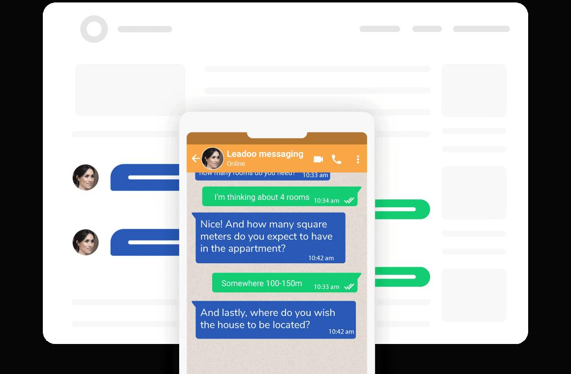 Byt enkelt från en webbplats till Messaging Apps
