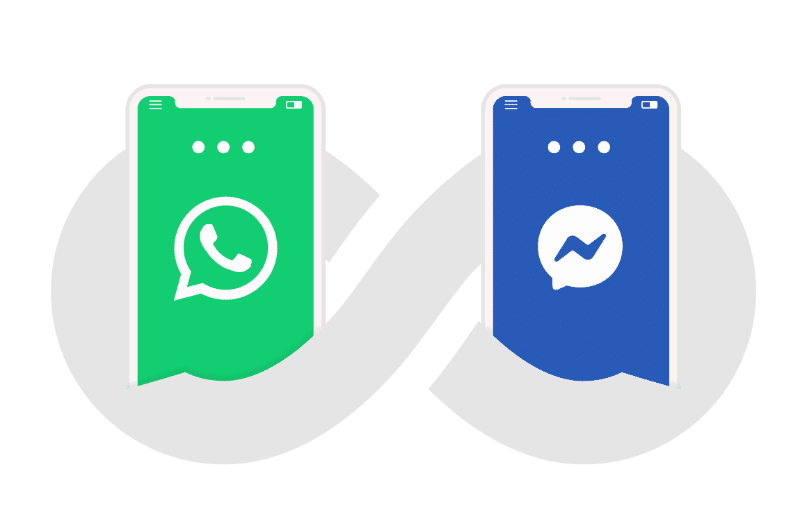 Connect to whatsapp and facebook messenger