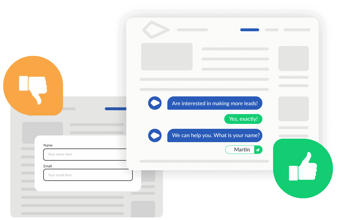InpageBot provides much better customer experience