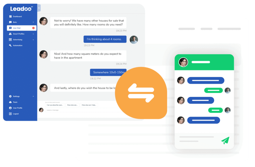 Chatbot combines with livechat