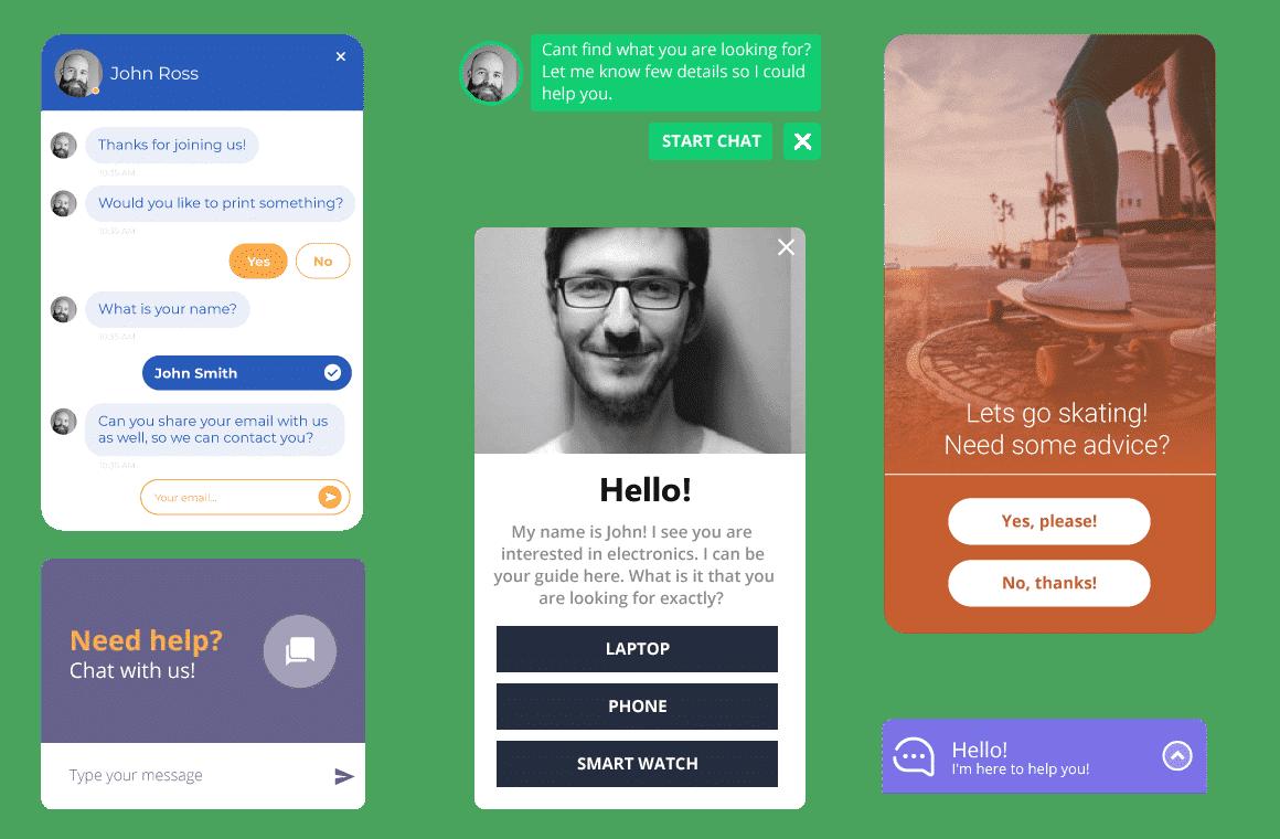Chatbot med anpassningsbar design
