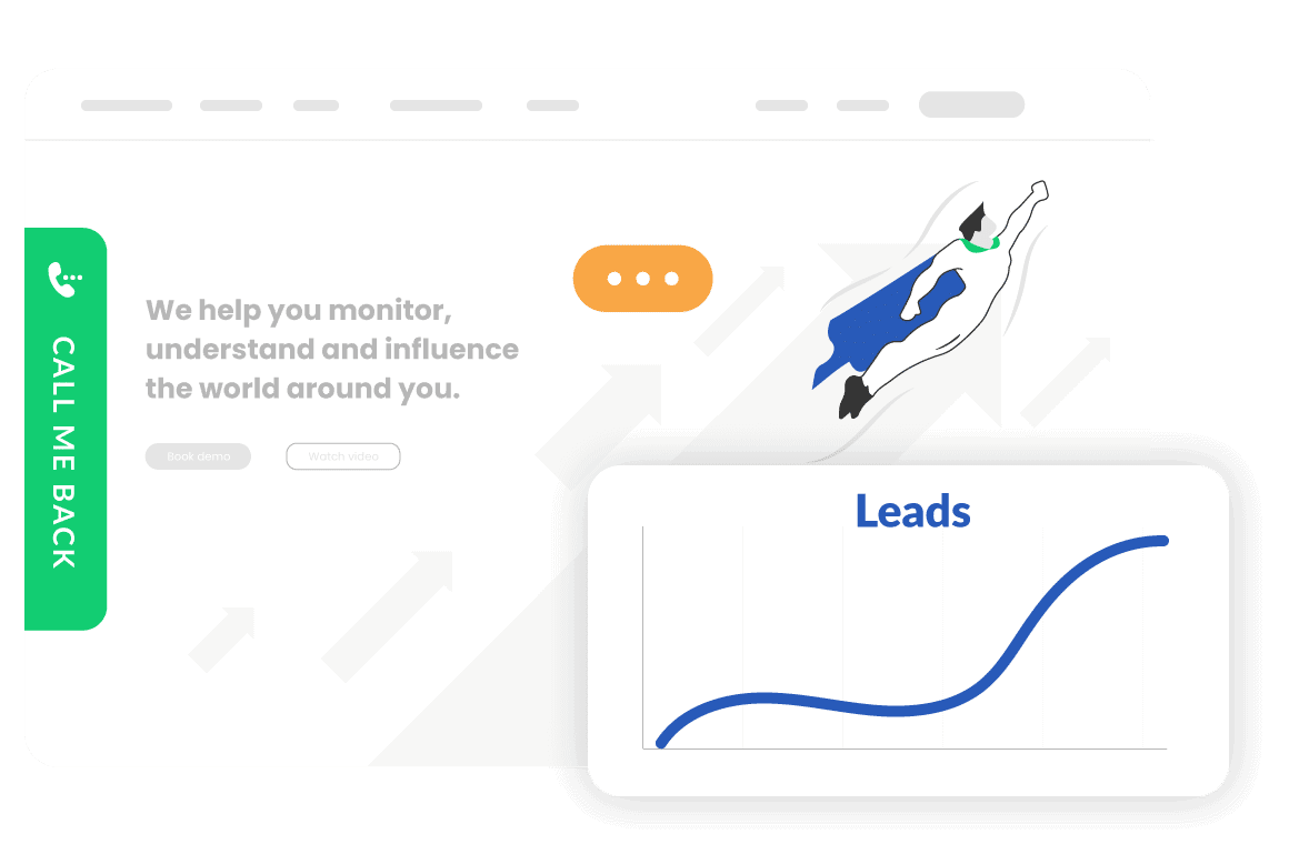 Callbackbot captures and generates leads with a lightning speed