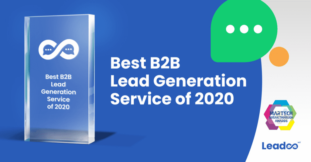 Leadoo best b2b lead generation service Martech Breakthrough Awards
