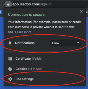 pasted image 0 6 how to enable browser notifications How to enable sound settings for your Leadoo notifications?