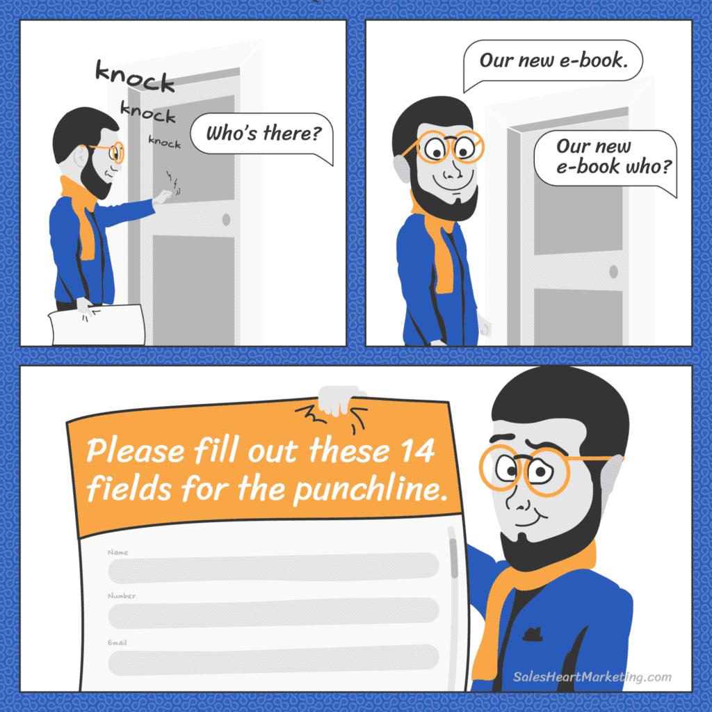 Marketing cartoon Leadoo N01 SalesHeartMarketing