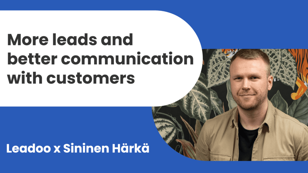 sininen härkä leadoo testimonial sininen härkä Leadoo x Sininen Härkä - Instant increase in leads and better communication with customers