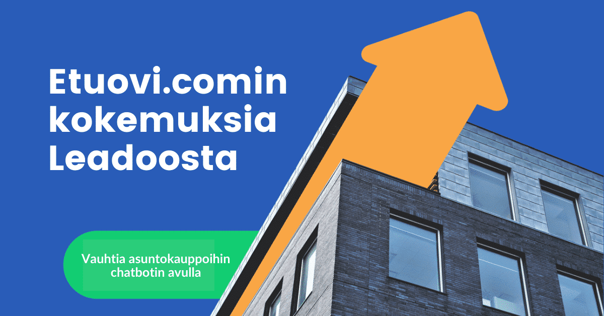 Vauhtia asuntokauppoihin – Etuovi.comin chatbot laittaa asunnon myyjät liikkeelle