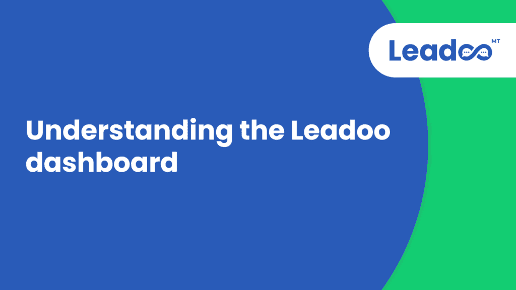 Understanding the Leadoo dashboard.00 00 00 00.Still002 live chat agents Documentation