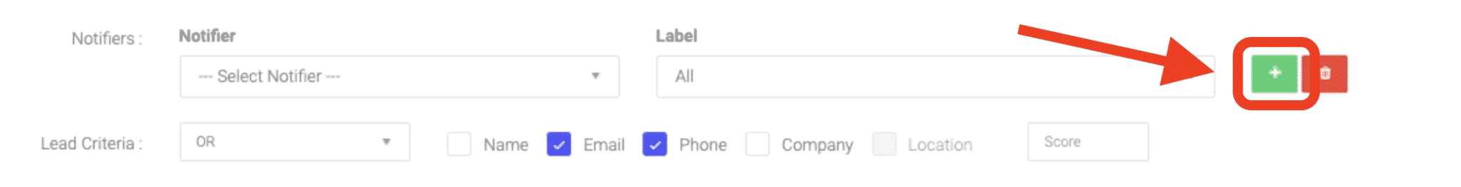 you can set up multiple users to receive lead notifications