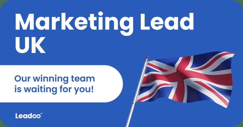 Lead marketing rounded marketing lead Marketing Lead, UK
