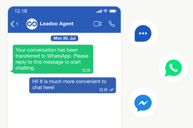 front page messaging 0 00 03 51 leadoo Leadoo – Never miss a lead again