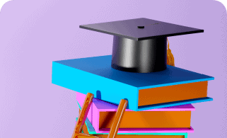 education concept 3d books hat pink background modern flat design isometric concept education back school Support