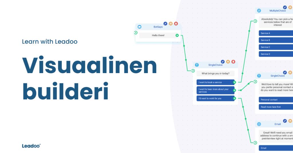 visual bot builder 3 builderi Leadoon visuaalinen builderi – markkinoiden helpoin bottityökalu