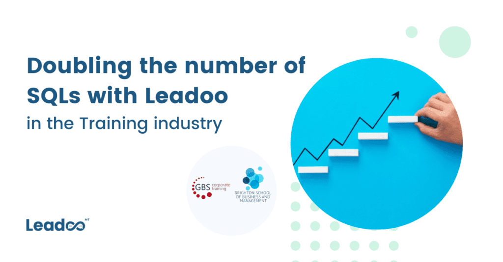 1 2 sql Doubling the number of SQLs with Leadoo in the Training industry
