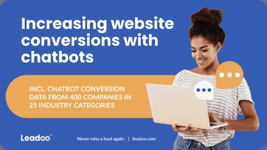 increasing website conversions with chatbots report featured image leadoo Leadoo – Missa aldrig ett lead igen